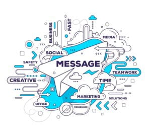 message graphic