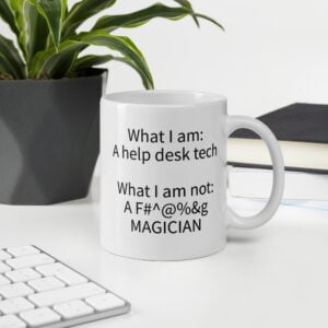 help desk tech coffee mug