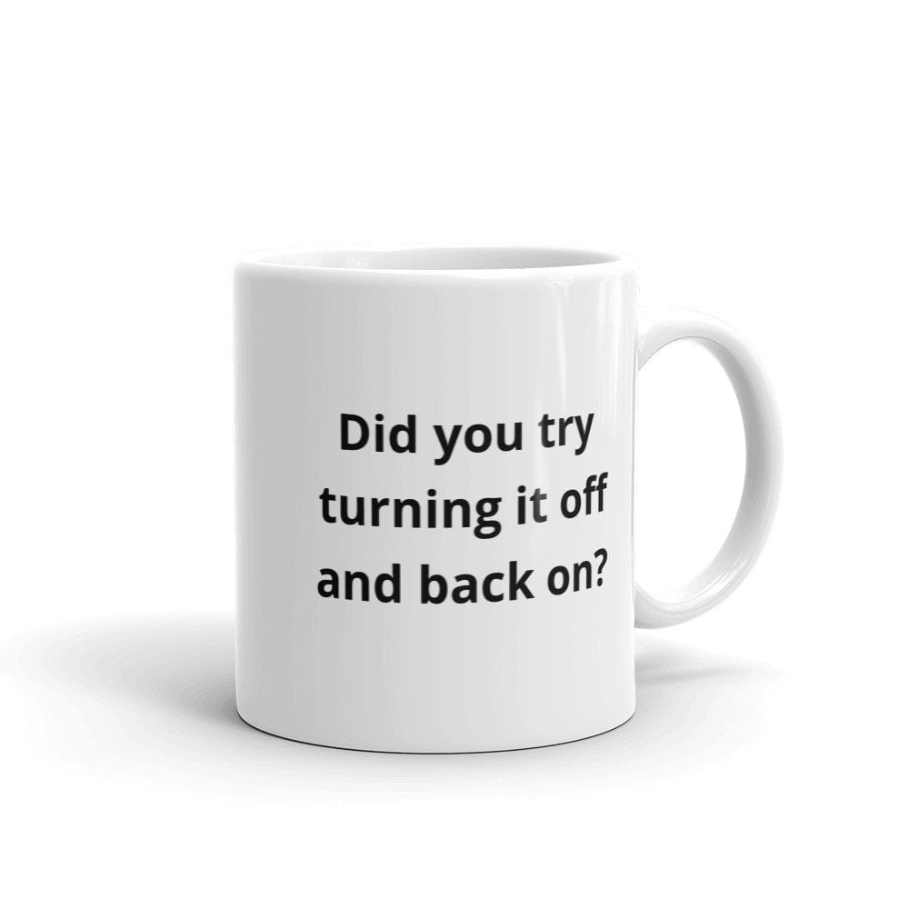 did you try turning it off and back on coffee mug