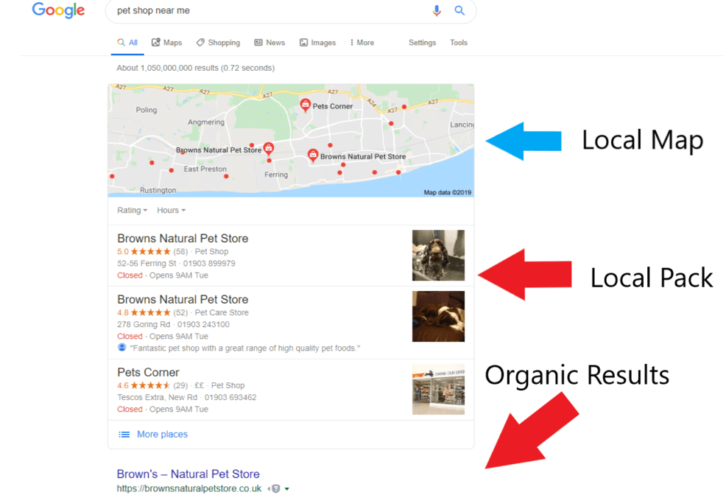 google's local pack