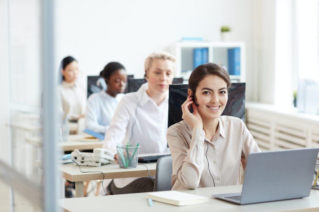 Female Operator in Call Center