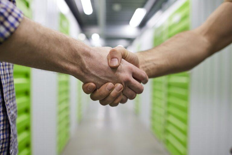 Handshake of people