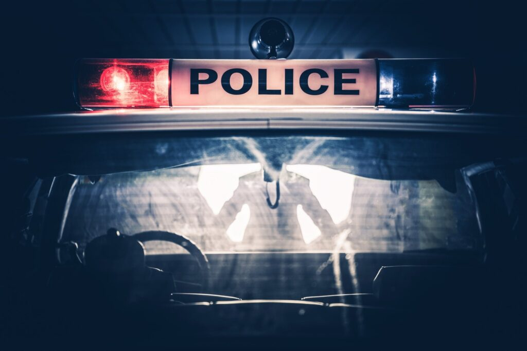 Police Cruiser Traffic Stop