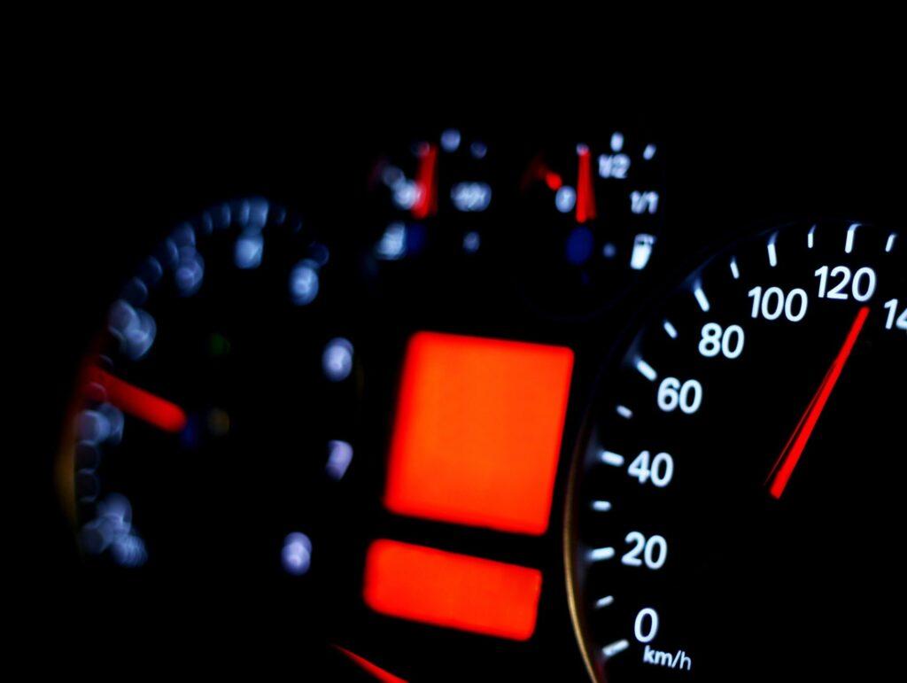 Speedometer close up background