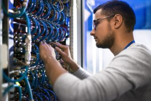 System Administrator Checking Servers