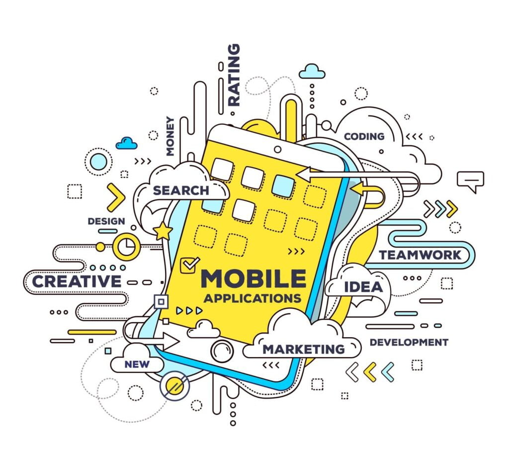 mobile applications graphic