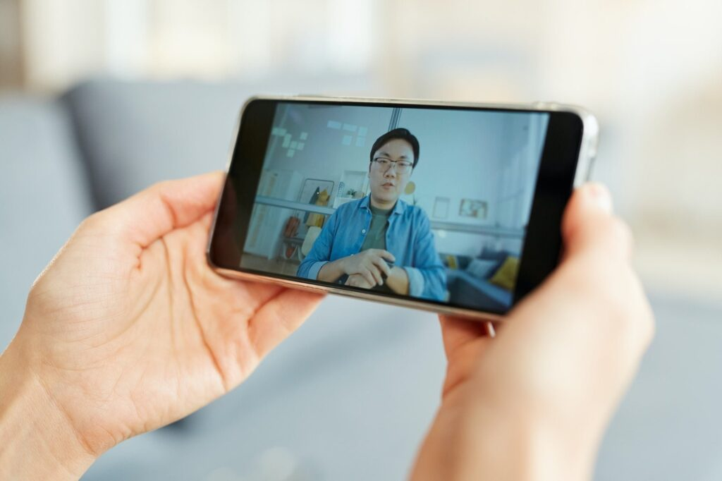 Video Conference On Smartphone