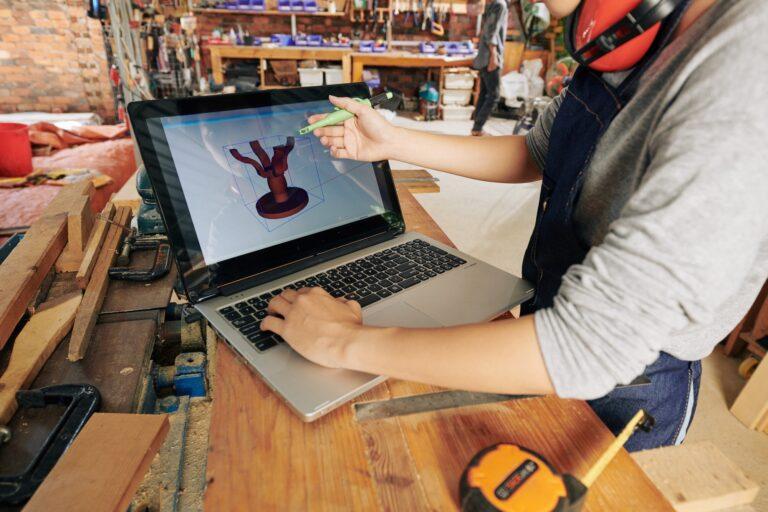 Carpenter making 3D model